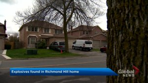 Explosives found in Richmond Hill home